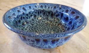 Blue Pottery Bowl by Connie Cockrell
